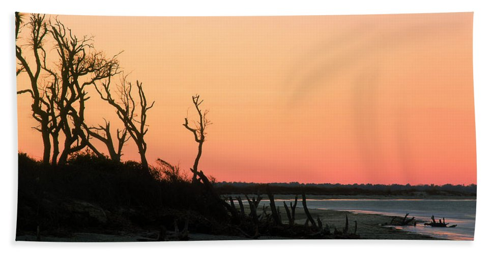 Beach Beach Towel featuring the photograph Sunset At James Island by John Harmon