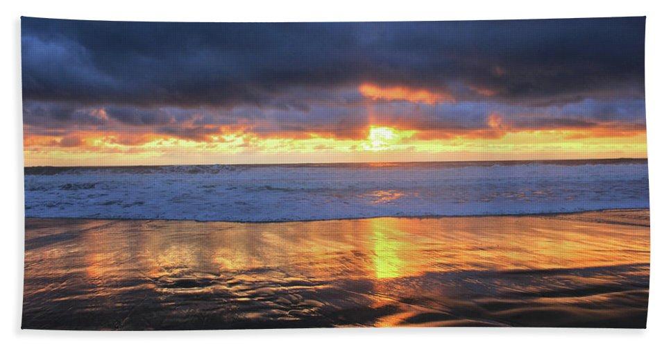 California Beach Towel featuring the photograph Sunset At Salt Creek by Flat Owl Photo