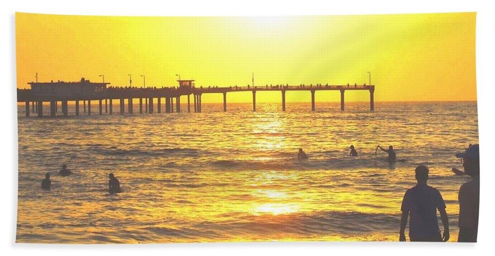 Beach Beach Towel featuring the photograph Sunset At The Beach by Corey Maki