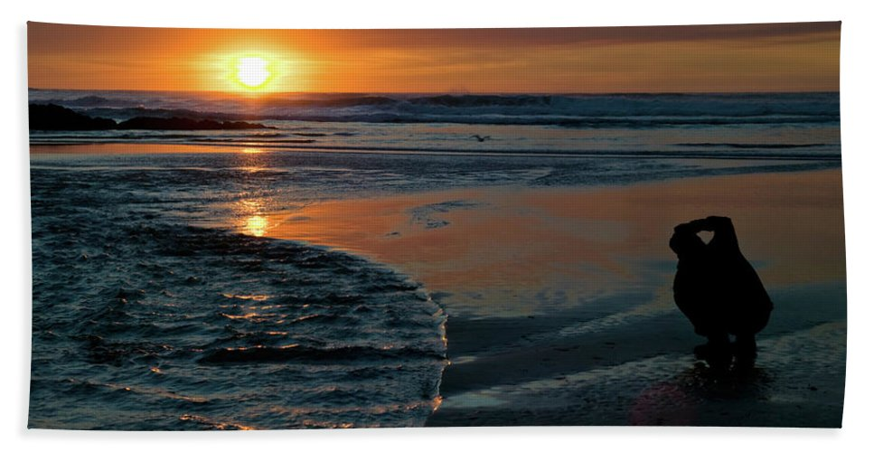 Nature Beach Towel featuring the photograph Sunset Capture by Randall Ingalls