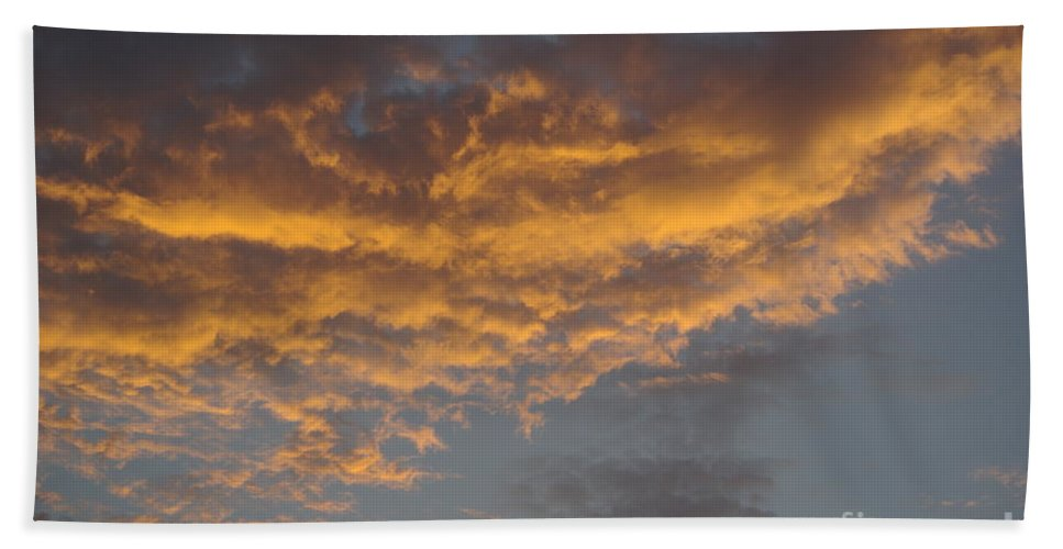 Clouds Beach Towel featuring the photograph Sunset Clouds by Jim And Emily Bush