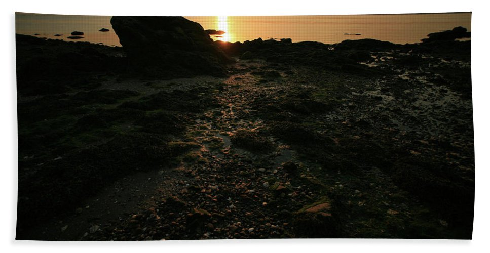 Sunset Beach Towel featuring the photograph Sunset Coast by Karol Livote