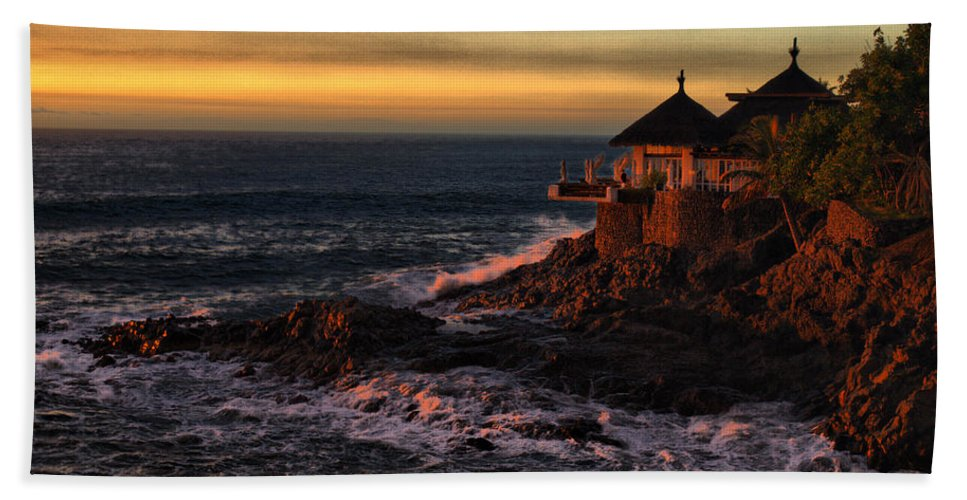 Spain Beach Towel featuring the photograph Sunset Hdr by Jouko Lehto