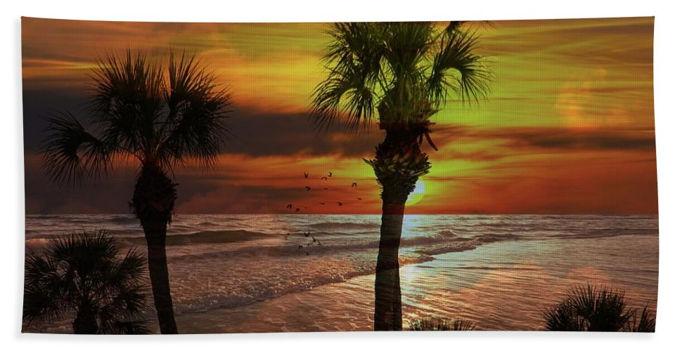 Sunsets Beach Towel featuring the photograph Sunset in florida by Athala Bruckner