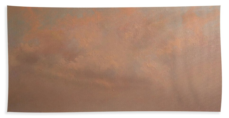 Sunset Beach Towel featuring the painting Sunset in Madrid by Tomas Castano