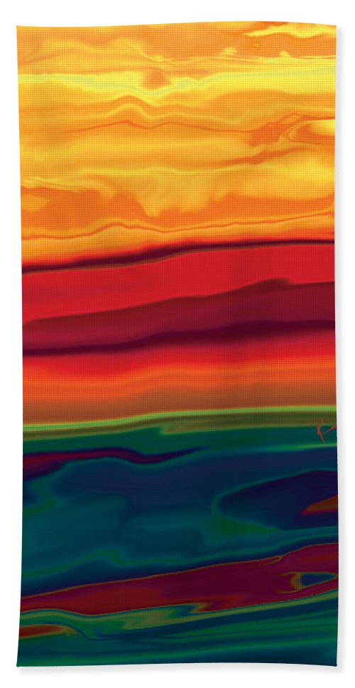 Art Beach Towel featuring the digital art Sunset In Ottawa Valley 1 by Rabi Khan