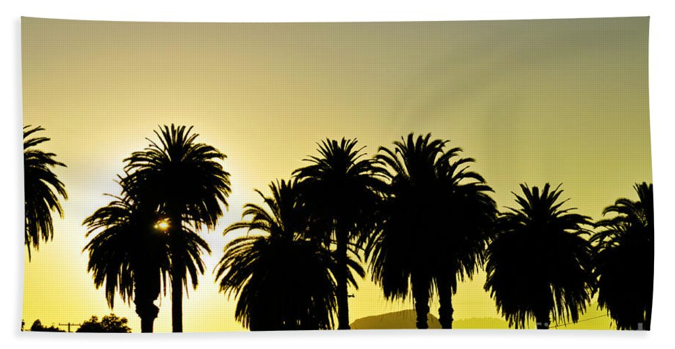 Clay Beach Towel featuring the photograph Sunset In Socal by Clayton Bruster