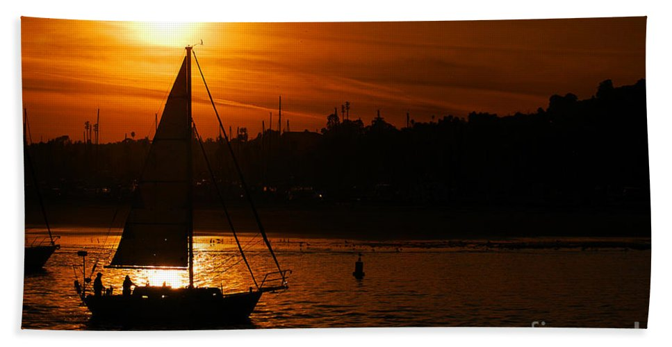 Clay Beach Towel featuring the photograph Sunset In Southern California by Clayton Bruster