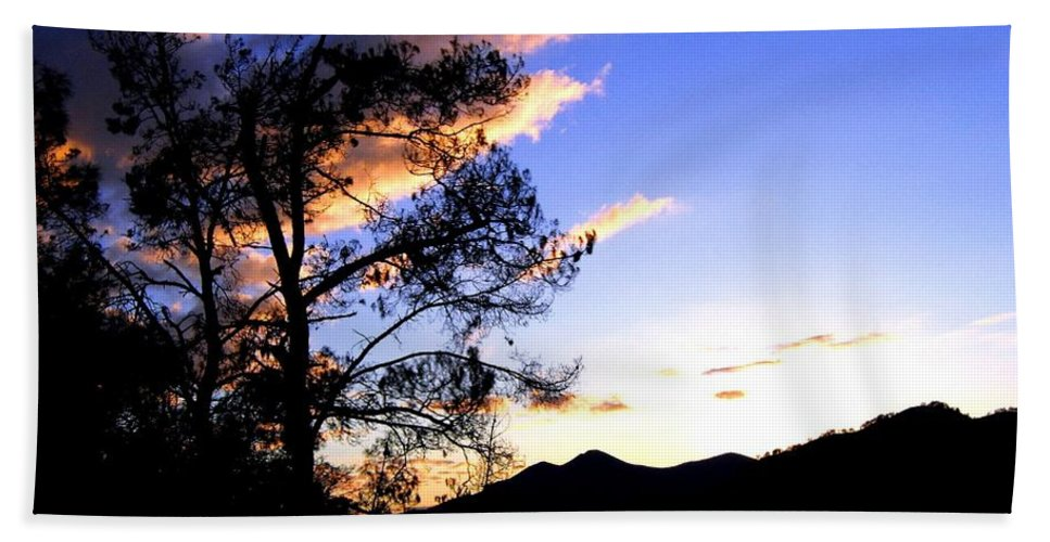 Sunset Beach Towel featuring the photograph Sunset In The Highlands by Will Borden