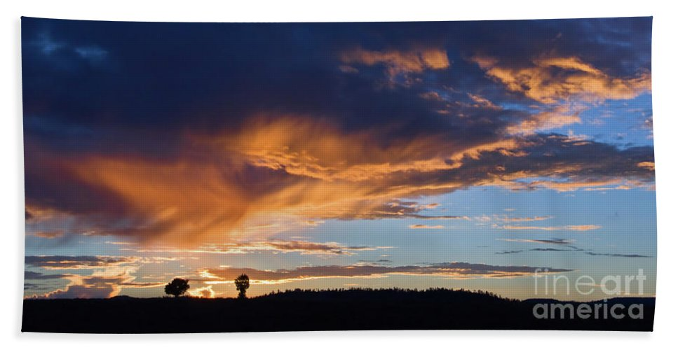 Utah Beach Towel featuring the photograph Sunset In Utah by Delphimages Photo Creations
