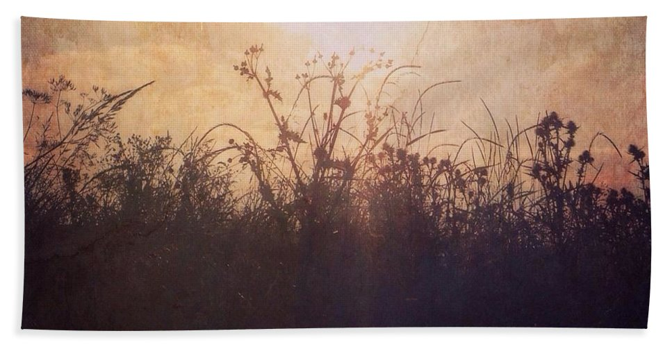Photography Beach Towel featuring the photograph Sunset Song by Claudia Cee