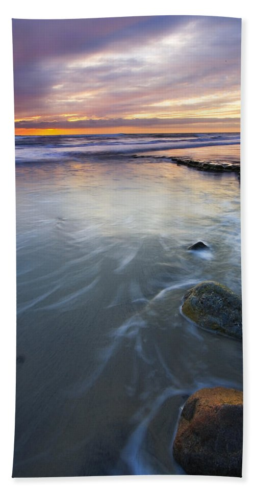 Seascape Beach Towel featuring the photograph Sunset Storm by Mike Dawson