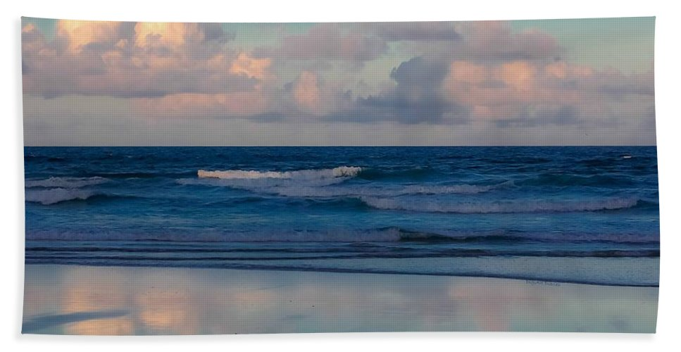 Ocean Beach Towel featuring the digital art Sunset Tides by DigiArt Diaries by Vicky B Fuller