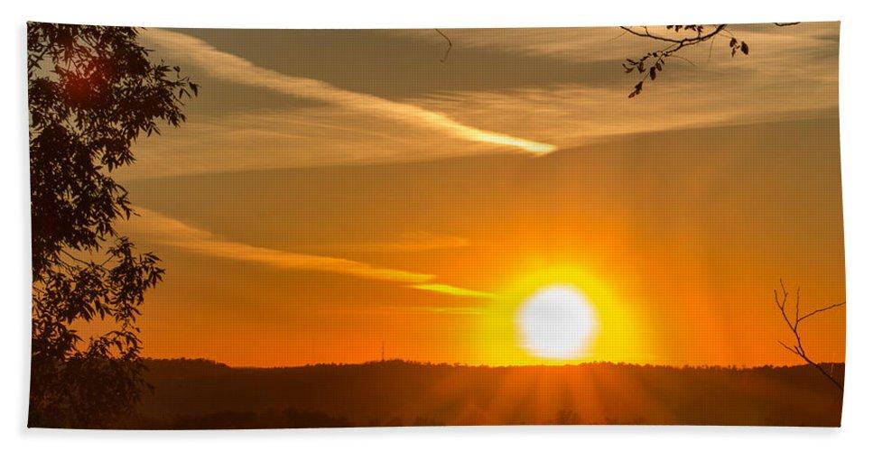 2015 Beach Towel featuring the photograph Sunset Vienna West Virginia by Edie Ann Mendenhall