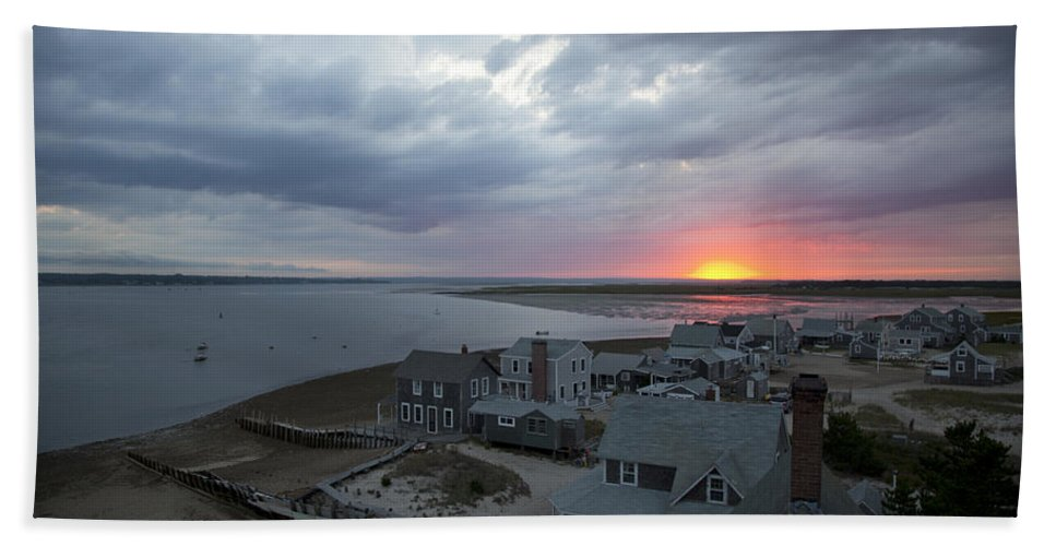 Sunset Beach Towel featuring the photograph Sunset View From Sandy Neck Light by Charles Harden