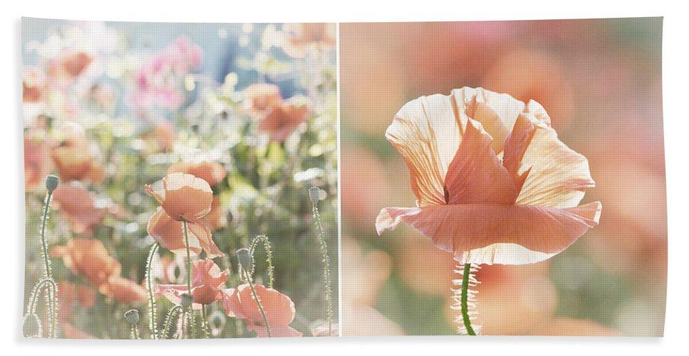 Lisa Knechtel Beach Towel featuring the photograph Sunshine And Poppies by Lisa Knechtel