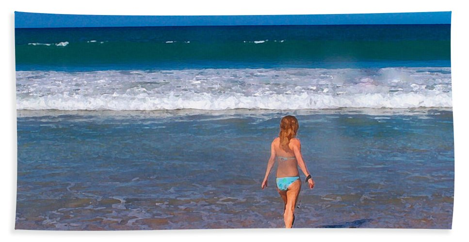 Ocean Beach Sheet featuring the photograph Surf Up by Athala Carole Bruckner