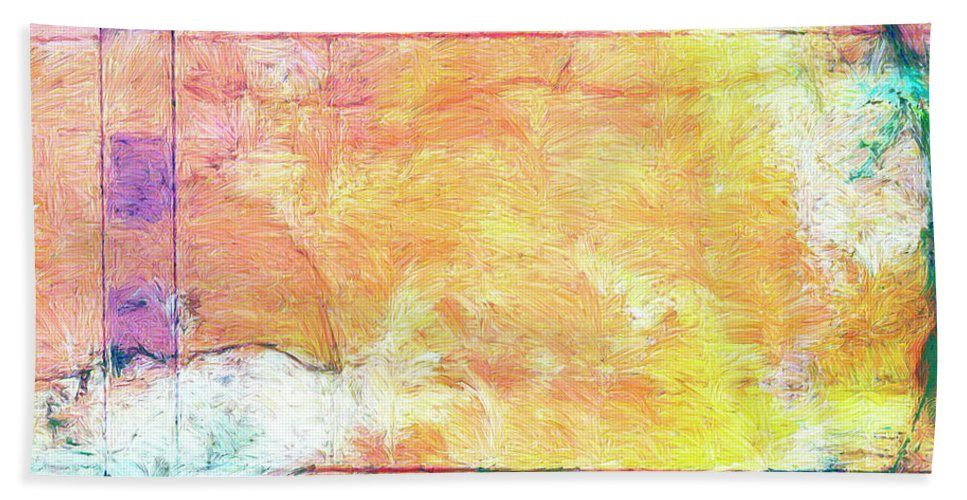 Abstract Beach Towel featuring the painting Surface Vector by Dominic Piperata