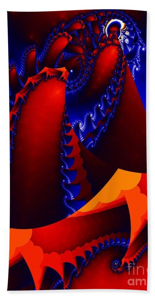 Digital Art Beach Towel featuring the digital art Surfacing by Ron Bissett