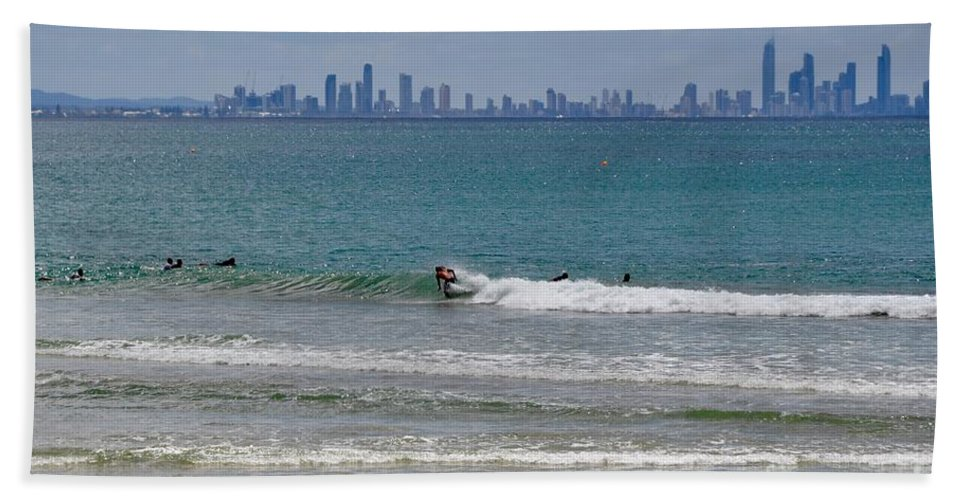 Gold Coast Beach Towel featuring the photograph Surfers Paradise by Csilla Florida
