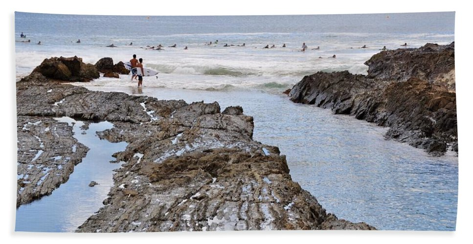 Gold Coast Beach Towel featuring the photograph Surfers Waterways by Csilla Florida