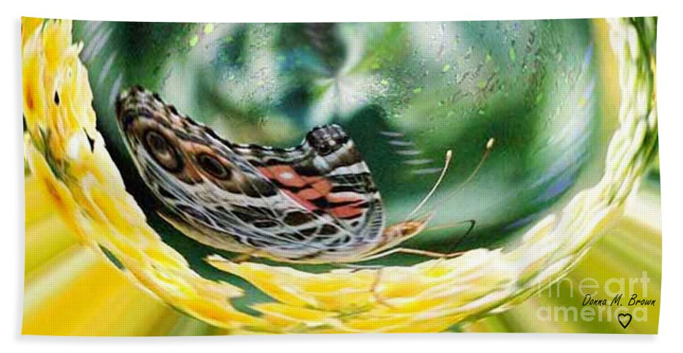 Butterfly Beach Towel featuring the photograph Suspended In Time by Donna Brown