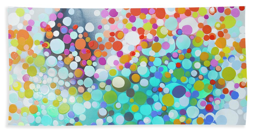 Abstract Beach Towel featuring the painting Sweet Thing by Claire Desjardins