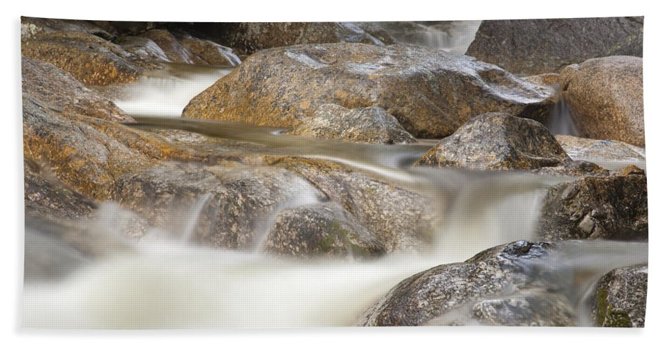 Rushing Water Beach Towel featuring the photograph Swift River - White Mountains New Hampshire Usa by Erin Paul Donovan