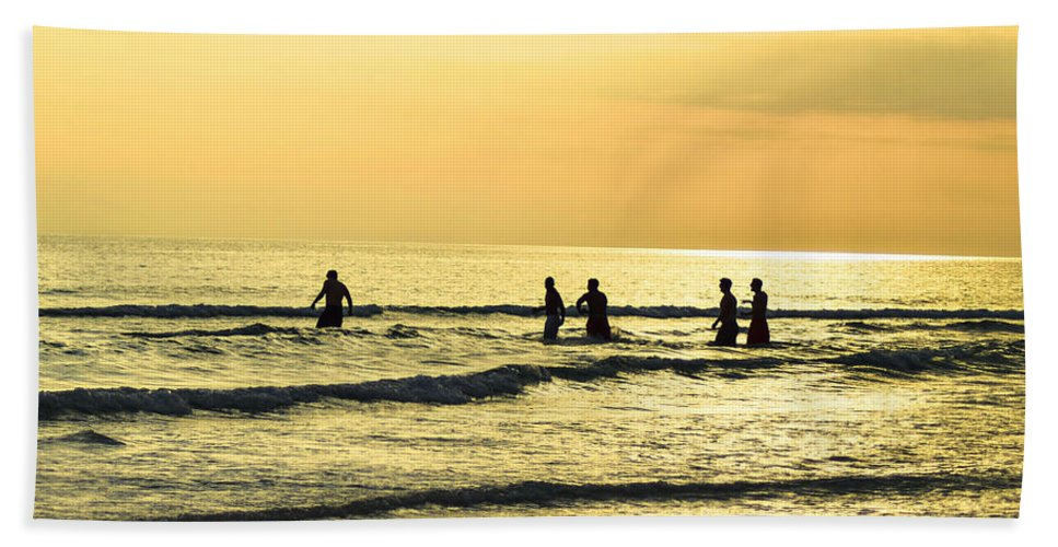 Landscape Beach Towel featuring the photograph Swim Time by Brandon Stansbury