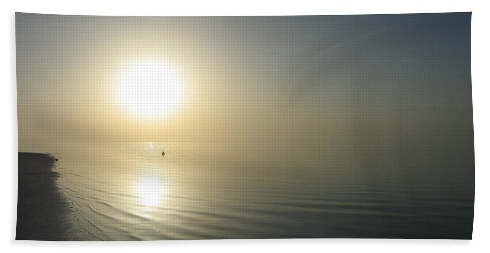 Sun Beach Towel featuring the photograph Swimming Between The Suns by Clay Cofer