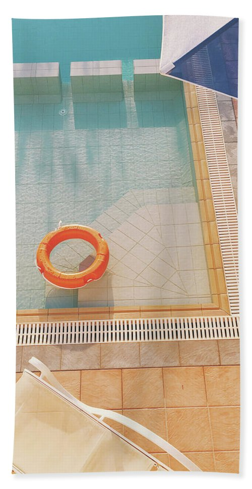 Water Beach Towel featuring the photograph Swimming Pool by Cassia Beck
