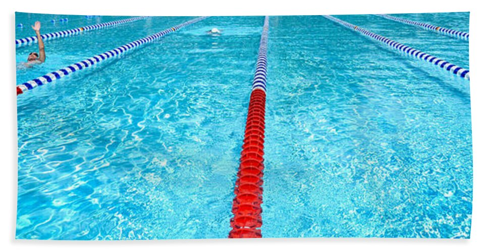 Swimming Pool Lap Lanes Beach Towel for Sale by Amy Cicconi