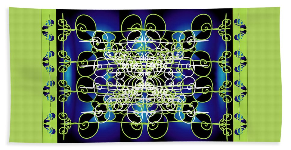 Abastract Beach Towel featuring the digital art Swirling 1 by George Pasini