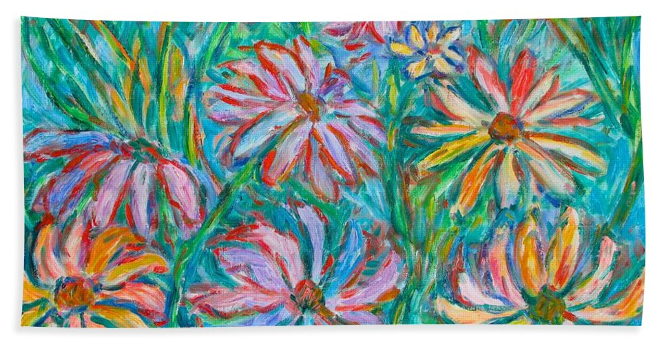 Impressionist Beach Sheet featuring the painting Swirling Color by Kendall Kessler