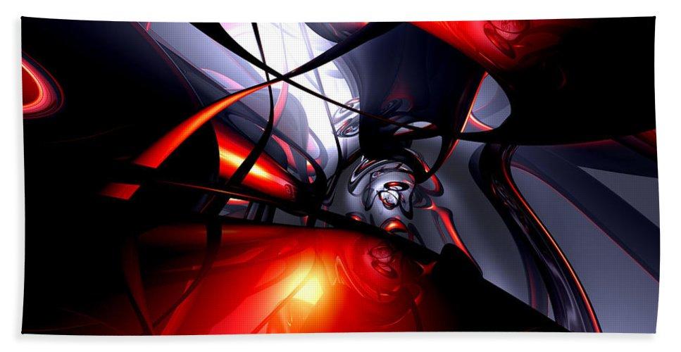 3d Beach Towel featuring the digital art Swirling Venom Abstract by Alexander Butler