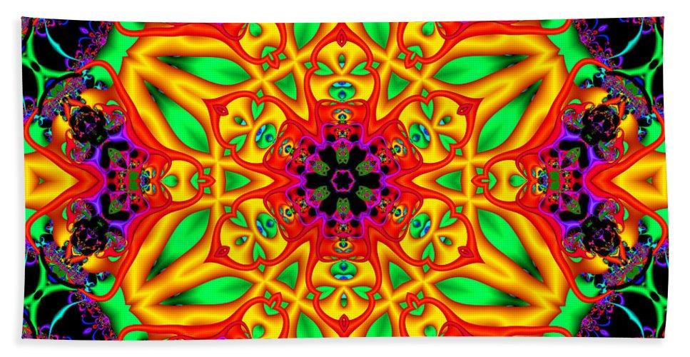 Crazy Beach Towel featuring the digital art Synergy by Robert Orinski