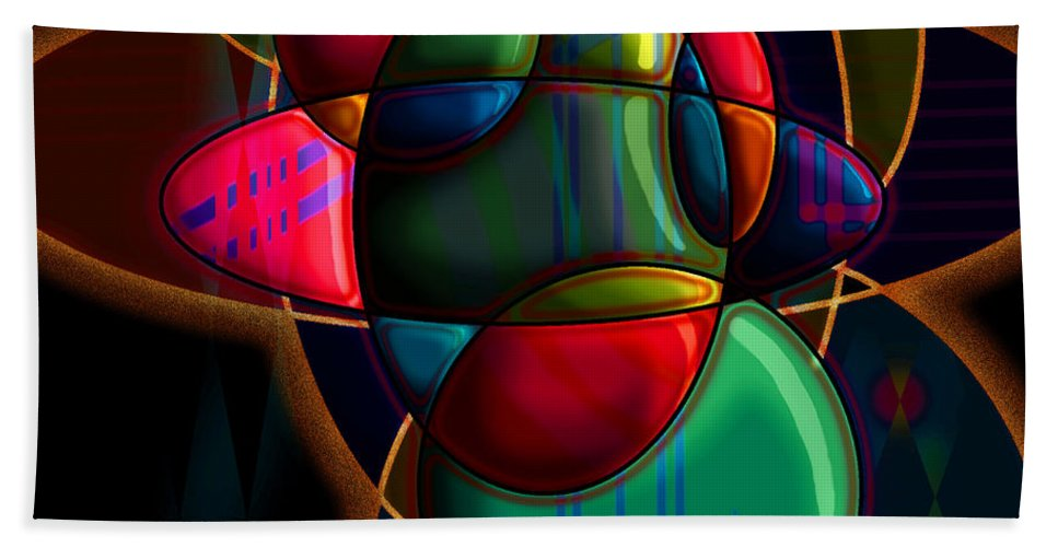 Modern Beach Sheet featuring the digital art Tactile Space I by Stephen Lucas