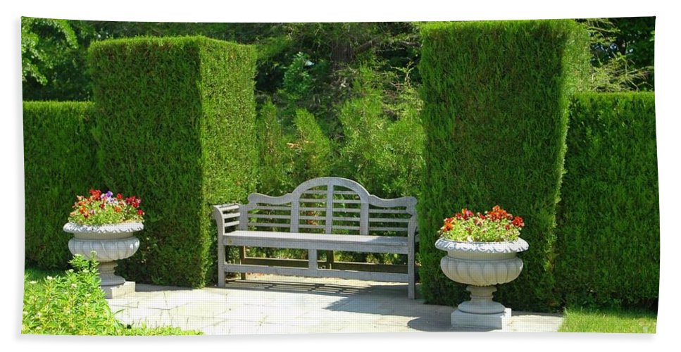 Bench Beach Towel featuring the photograph Take A Seat by Kathleen Struckle
