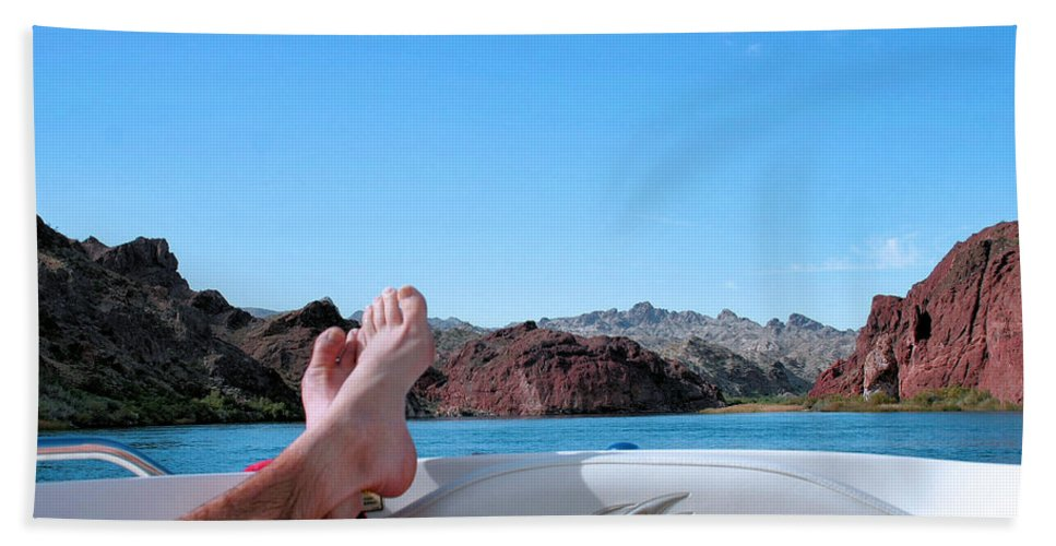Boat Beach Towel featuring the photograph Takin It Easy by Kristin Elmquist