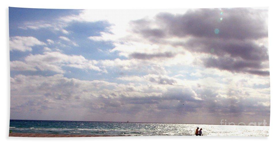 Walking Beach Sheet featuring the photograph Taking A Walk by Amanda Barcon
