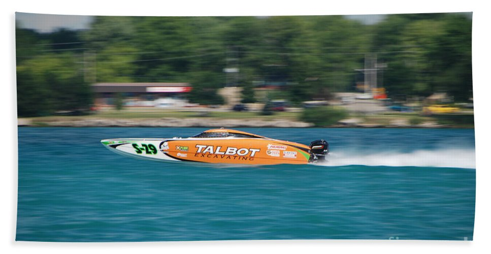 Talbot Beach Towel featuring the photograph Talbot Offshore Racing by Grace Grogan