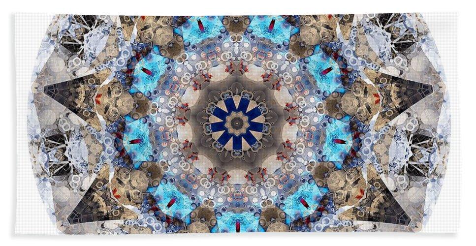 Talisman Beach Towel featuring the digital art Talisman 2412 by Marek Lutek