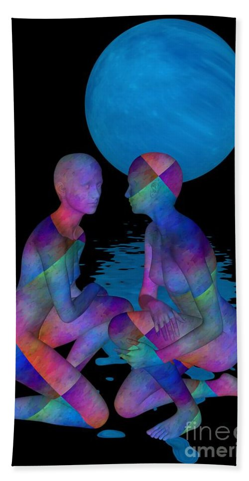 Doll Beach Towel featuring the digital art Talk To Me by Issabild -