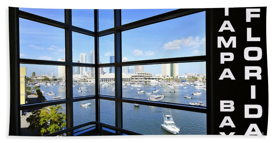Tampa Bay Florida Beach Towel featuring the photograph Tampa Bay Florida by David Lee Thompson