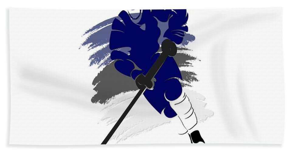 Lightning Beach Towel featuring the photograph Tampa Bay Lightning Player Shirt by Joe Hamilton