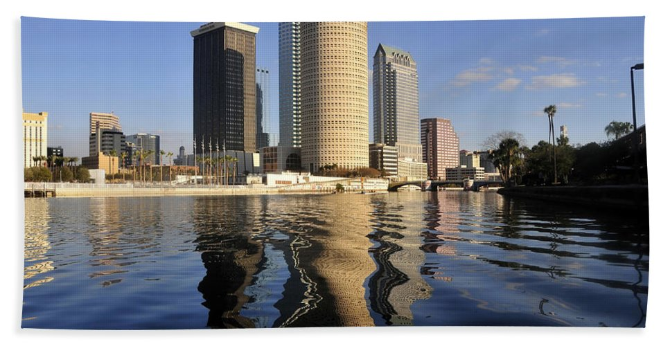 Tampa Bay Florida Beach Towel featuring the photograph Tampa Florida 2010 by David Lee Thompson