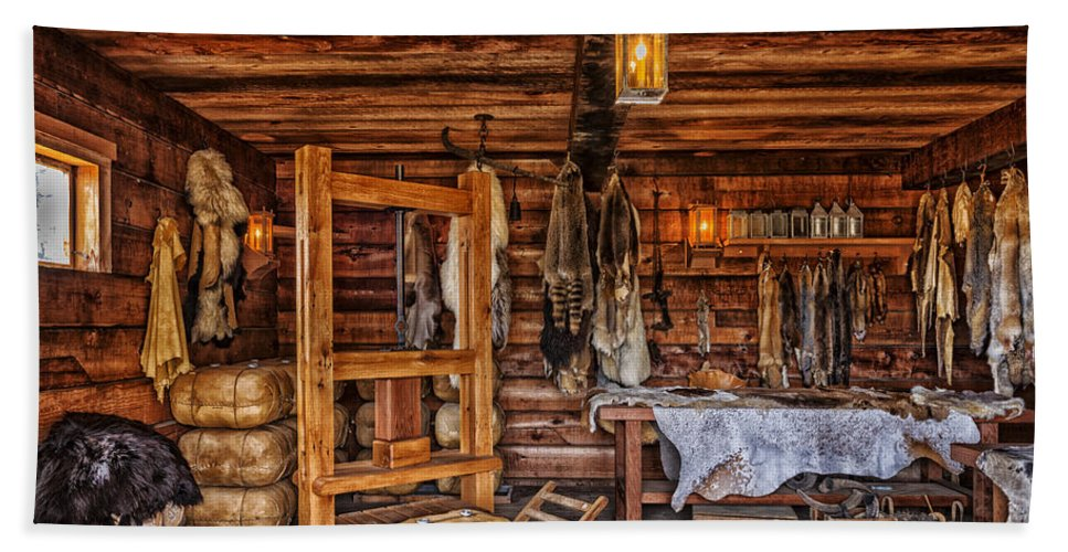 Cabin Beach Towel featuring the photograph Tanning Room - Fort Ross California by Mountain Dreams