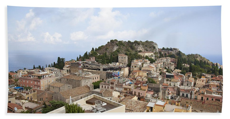 Beach Towel featuring the photograph Taormina View II by Madeline Ellis