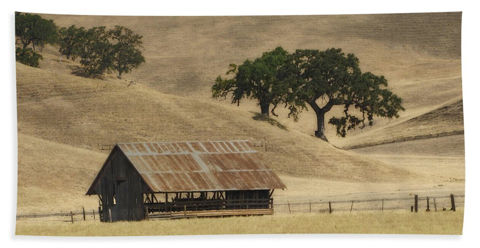 Landscapes Beach Towel featuring the photograph Tassajara Road by Karen W Meyer