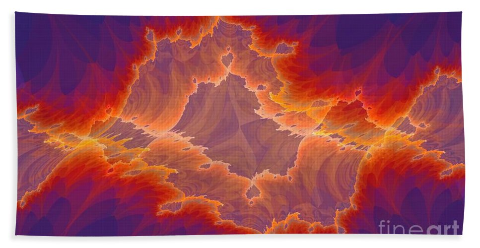 Tattered Beach Towel featuring the digital art Tattered by Ron Bissett